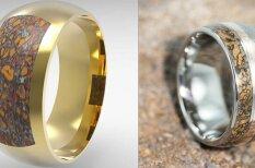Из ряда вон: свадебные кольца из костей динозавра и метеорита