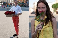 Вы прекрасны, получите розу: импозантный мужчина одаривал рижанок цветами