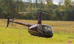 Priekulē avarējušais helikopters saskāries ar elektrolīnijas vadiem, apstiprina policija
