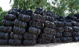 VVD uzdod uzņēmumam no Rīgas aizvākt 1000 tonnas lietotu riepu