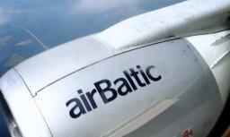 Slikto laikapstākļu dēļ 'airBaltic' reiss uz Tallinu piezemējies Rīgā