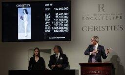 Rokfelleru kolekcijas izsolē uzstādīti 22 pasaules rekordi