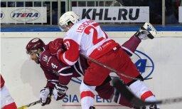 Vārtsargu 'duelī' ilgā pēcspēles metienu sērijā Rīgas 'Dinamo' tomēr piekāpjas 'Spartak'