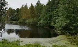 Iespaidīga aina: Ičas upe pārvērtusies līdz nepazīšanai