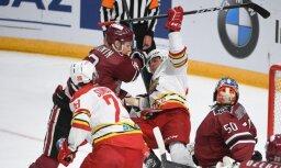 Rīgas 'Dinamo' gūst tikai vienus vārtus un turpina neveiksmju sēriju
