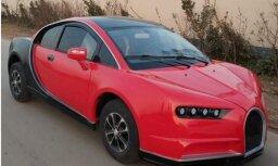 Ķīniešu elektromobilis 'Bugatti' veidolā par četriem tūkstošiem eiro