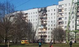 Пожар повышенной опасности в многоэтажке в Межциемсе локализован