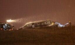 ФОТО: В аэропорту Стамбула потерпел крушение частный самолет