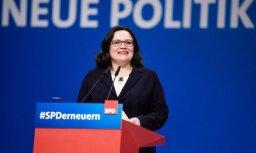 Par Vācijas sociāldemokrātu līderi ievēlēta Andrea Nālesa