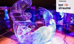 Ledus skulptūru festivāla mākslinieku paraugdemonstrējumi (Tiešraides arhīvs)