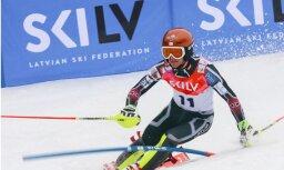 Gedra un Bondare starp 30 labākajiem kalnu slēpotājiem pasaules junioru čempionātā slalomā