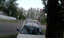 ВИДЕО: В Риге пьяный водитель врезался в дерево