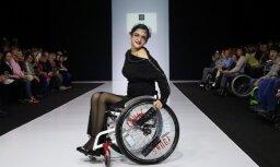 Maskavas modes nedēļas zvaigznes – modeles ratiņkrēslos