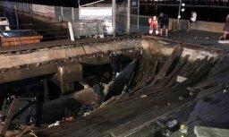 Sabrūkot koka platformai, Spānijā cietuši 300 cilvēki