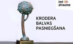 'Krodera balvas' pasniegšana Valmierā. Tiešraide beigusies