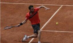 Gulbim 'French Open' pirmajā kārtā būs jātiekas ar Luksemburgas tenisa veterānu Milleru