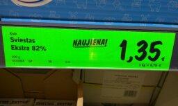 Lasītājs iemūžina sviesta cenas Lietuvā; cer uz cenu samazināšanos Latvijā
