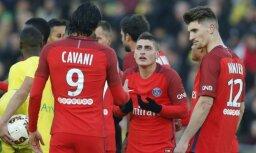 Video: 'Saint-Germain' futbolists nopelna ļoti amizantu brīdinājumu