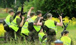 Foto: Neparastais Haminas Rezerves virsnieku skolas kadetu maršs