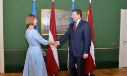 ФОТО: первый визит нового президента Эстонии в Латвию