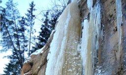 Fotoreportāža: Leduskritumi Gaujas nacionālajā parkā