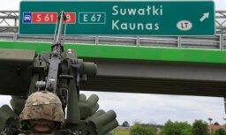 Foto: NATO karavīri vingrinās aizstāvēt Suvalku koridoru