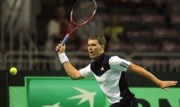 Финал теннисного турнира в Вильнюсе разыграли латвийские теннисисты