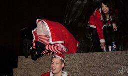 Foto: Kā briti svētku noskaņās dzēra un ālējās