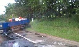 Foto: Uz Siguldas šosejas avarē trīs auto; veidojas sastrēgums