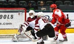 Latvijas U-18 hokejistiem zaudējums otrajā cīņā par vietas saglabāšanu pasaules čempionāta elites divīzijā