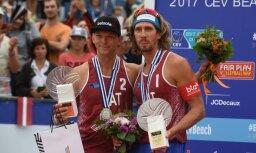 Samoilovs/Šmēdiņš savās mājās trešo reizi kļūst par Eiropas vicečempioniem