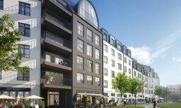 Magdelēnas kvartālā Rīgā pabeigtas pirmās dzīvojamās ēkas