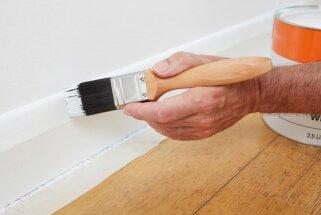 Kā nokrāsot grīdlīstes, nenoķēpājot sienu