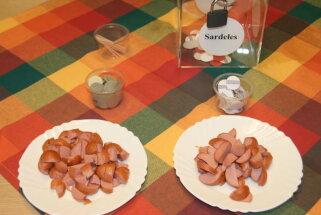 Aklajā degustācijā noskaidroti labākie cīsiņi un sardeles