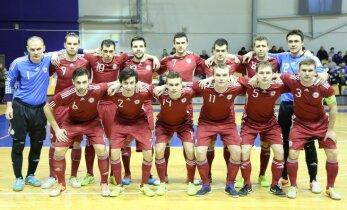 Latvijas telpu futbola izlase PK kvalifikācijas mačā brīnumaini izrauj uzvaru pār Armēniju