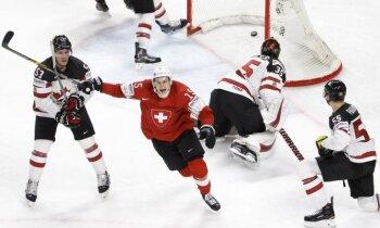 Šveice sensacionāli aptur Kanādu un otro reizi iekļūst pasaules čempionāta finālā