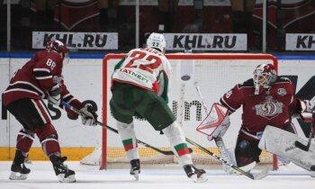 Rīgas 'Dinamo' piedzīvo kārtējo zaudējumu; fani tribīnēs turpina protestu