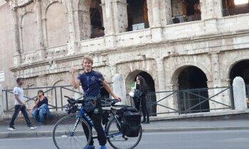 Mākslinieka Jurija Cupera 4000 kilometru garais velobrauciens no Rīgas uz Romu