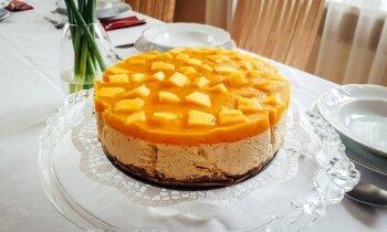 Liesā mango kūka bez cepšanas
