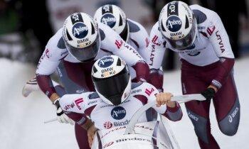 Ķibermanis Altenbergā izcīna trešo vietu arī četrinieku sacensībās; Melbārdis septītais