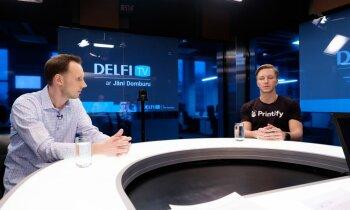 'Delfi TV ar Jāni Domburu' atbild 'Printify' dibinātāji. Pilns intervijas ieraksts