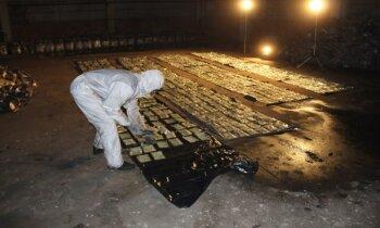 No kilograma vēderā līdz 200 kilogramiem konteinerā – zīmīgi kokaīna ķērieni Latvijā
