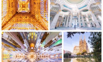 Arhitektūras kaleidoskops: ļoti slavenas ēkas iemūžinātas neparastās fotogrāfijās