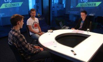 'Ceļš uz Lužņikiem': 'Delfi TV' viesojas mūziķis Ralfs Eilands un futbola eksperts Reinis Lācis