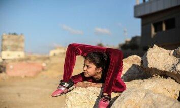 Foto: Slavu iemanto neticami lokana meitenīte no Gazas