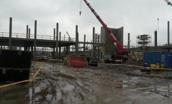 ФОТО, ВИДЕО: На строительство торгового центра Akropole в Риге выделено 106,5 млн евро