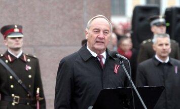 Prezidents aicina politiskos spēkus neizmantot 16.martu savu spalvu spodrināšanai