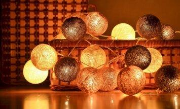 Ne tikai uz plaukta – radošas idejas diegu lampiņu virtenes izmantojumam