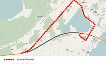 Otrdien tiks slēgts Ventspils šosejas posms Jūrmalā