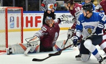 Хоккеисты сборной Латвии крупно проиграли финнам на чемпионате мира